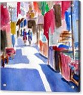 Sunny Day At The Market Acrylic Print
