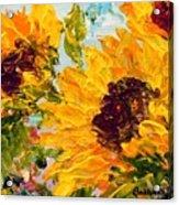 Sunny Day Sunflowers Acrylic Print