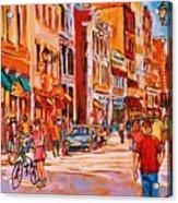 Sunny Downtown  Acrylic Print
