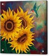 Sunny Faces Acrylic Print