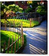 Sunny Garden Path Acrylic Print