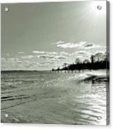Sunny March Day On The West Beach Acrylic Print