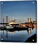 Sunny Morning At Onset Pier Acrylic Print