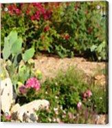 Sunny Rock Garden Acrylic Print