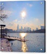 Sunny Schuylkill River In Winter Acrylic Print