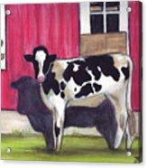 Sunny side of the barn Acrylic Print