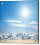 Sunny Sky Acrylic Print by Carlos Caetano