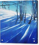 Sunny Traintrip To Hamar Acrylic Print