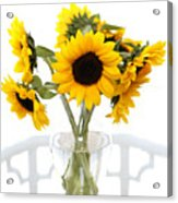 Sunny Vase Of Sunflowers Acrylic Print