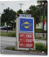 Sunoco Bait And Tackle Acrylic Print