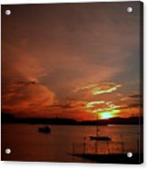 Sunraise Over Lake Acrylic Print