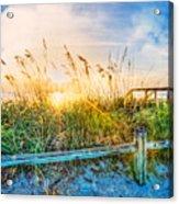 Sunrays On The Beach Acrylic Print