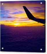 Sunrise Above The Clouds Acrylic Print
