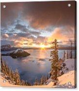 Sunrise After Summer Snowfall Acrylic Print