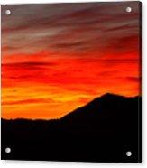 Sunrise Against Mountain Skyline Acrylic Print