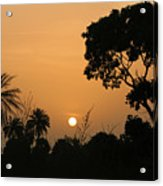 Sunrise And Silhouettes Acrylic Print