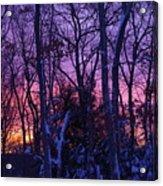 Sunrise And Snow Acrylic Print