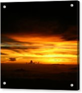 Sunrise At 38k Over El Salvador Acrylic Print