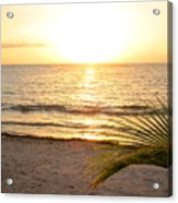 Sunrise At Akumal Sur 1 Acrylic Print