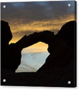 Sunrise At Arch Rock Acrylic Print