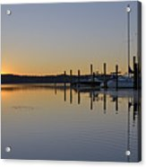 Sunrise At Belle Haven Marina In Alexandria Virginia Acrylic Print by Brendan Reals
