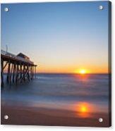 Sunrise At Belmar New Jersey Acrylic Print