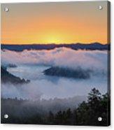 Sunrise At Broken Bow Lake Acrylic Print