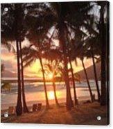 Sunrise At Catseye Beach Acrylic Print