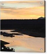 Sunrise At Crawley Lake Acrylic Print