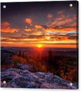 Sunrise At Dolly Sods At Bear Rocks Acrylic Print