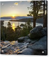 Sunrise At Emerald Bay In Lake Tahoe Acrylic Print