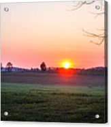 Sunrise At Gettysburg Acrylic Print