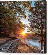 Sunrise At Great Bend Acrylic Print
