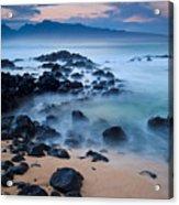 Sunrise At Ho'okipa - Sunrise At Hookipa Beach In Maui Acrylic Print
