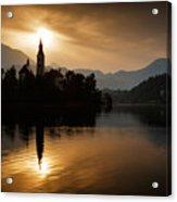 Sunrise At Lake Bled Acrylic Print