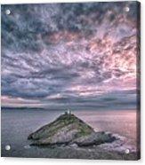 Sunrise At Mumbles Lighthouse Acrylic Print
