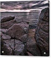Sunrise At Otter Cliffs #5 Acrylic Print