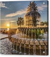 Sunrise At Pineapple Fountain Acrylic Print