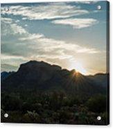 Sunrise At Sabino Canyon Acrylic Print