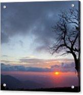 Sunrise At Saddle Overlook Acrylic Print