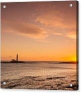 Sunrise At St Mary's Lighthouse Acrylic Print