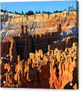 Sunrise At Sunset Point In Bryce Canyon National Park Acrylic Print