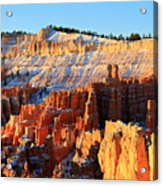 Sunrise At Sunset Point In Bryce Canyon Acrylic Print