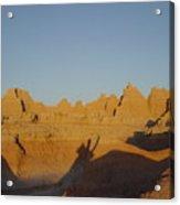 Sunrise At The Badlands, S.dakota, Usa Acrylic Print