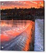 Sunrise At The Dam Acrylic Print