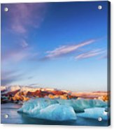 Sunrise At The Iceberg Lagoon Acrylic Print