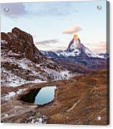 Sunrise At The Matterhorn Mountain Area Acrylic Print