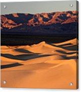Sunrise At The Mesquite Sand Dunes Acrylic Print
