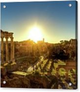 Sunrise At The Ruins Acrylic Print