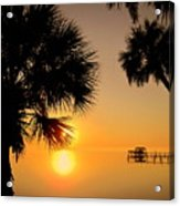 Sunrise At The Space Coast Fl Acrylic Print